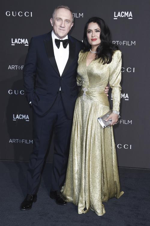 Salma Hayek s manželom.