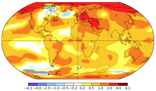 Odchýlky priemernej ročnej teploty