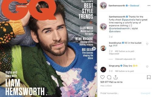 Liam Hemsworth pre magazín