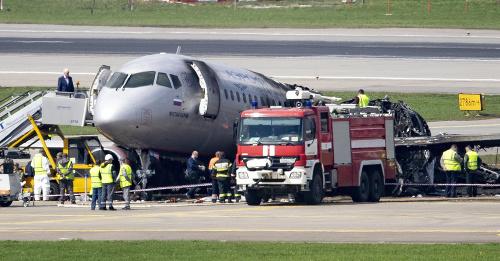 Havária lietadla v Moskve: