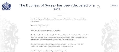 Kráľovská rodina vydala oficiálne
