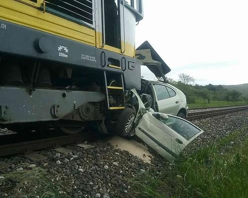 Dopravná nehoda vlaku a