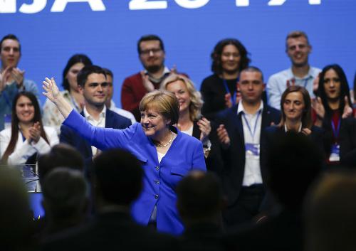 Angela Merkelová v Záhrebe