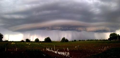 Búrky v Maďarsku.