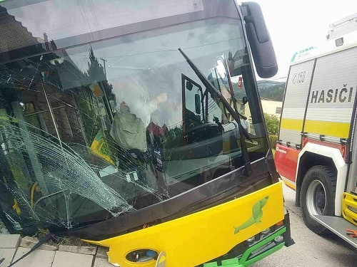 Autobus skončil v jarku.