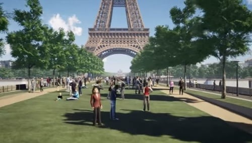 VIDEO Eiffel Tower Environment