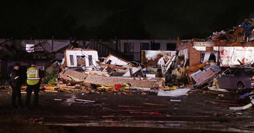 Tornádo zničilo motel v