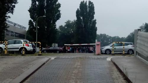 Evakuácia Technopolu.