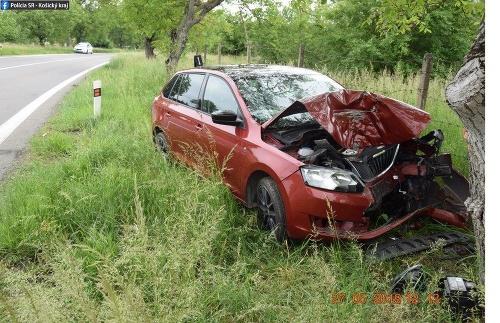Auto po náraze zostalo