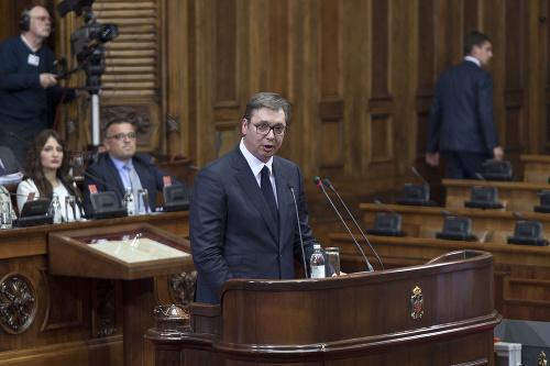 Srbský prezident Aleksandar Vučič