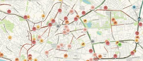 Totálny dopravný kolaps v