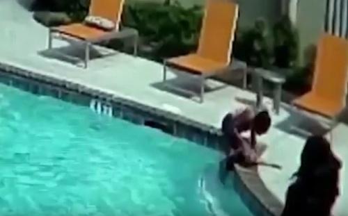 Dráma v bazéne: VIDEO