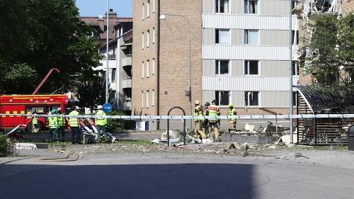 explózia v švédskom meste