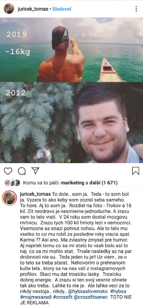 Tomáš Juríček ako 24-ročný