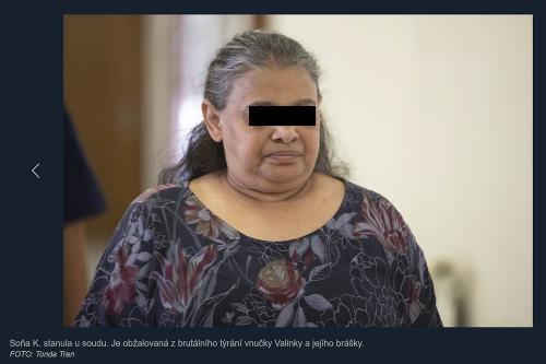 Obžalovaná Soňa pred súdom.