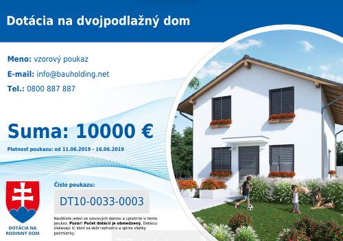 Dotácie na dom sú