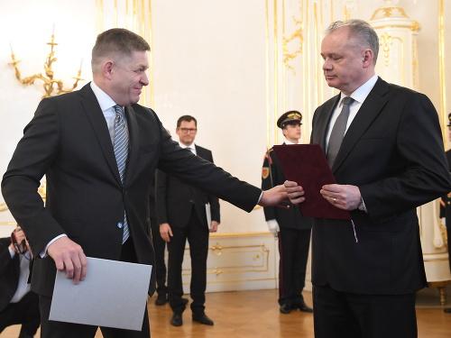 Andrej Kiska prijíma demisiu