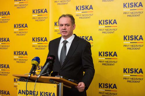 Andrej Kiska na tlačovej