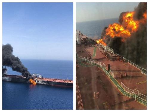 Horiaci tanker v Ománskom