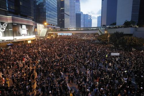 FOTO Protest v Hongkongu