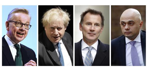 Zľava Michael Gove, Boris