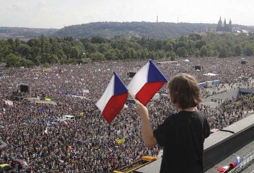 Protivládna demonštrácia v Prahe: