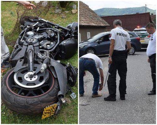 Tragická dopravná nehoda motocyklistu.
