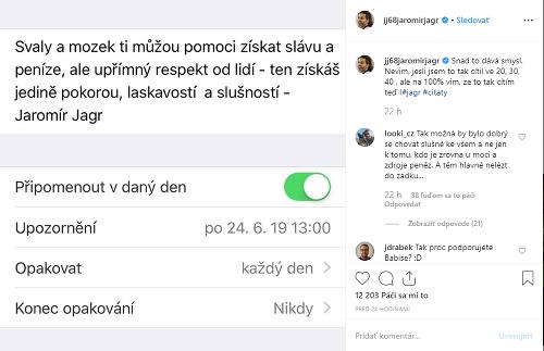 Jaromír Jágr mladíkovi poslal