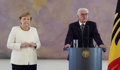 Angela Merkelová a Frank-Walter