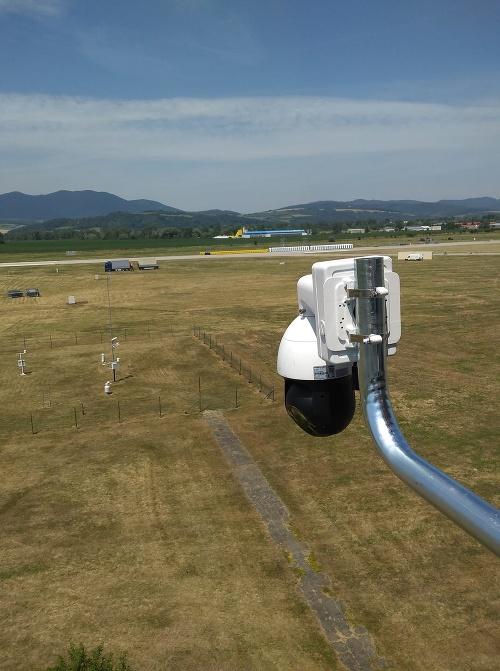 Bezpečnostná kamera na festivale