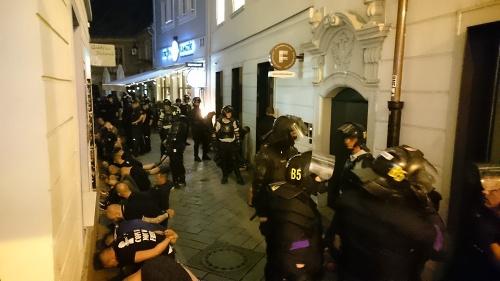 Situácia v centre Bratislavy