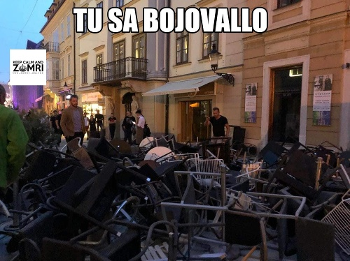 Bitka chuligánov v Bratislave