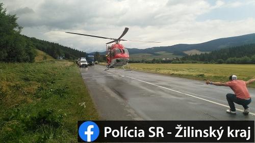 Dopravná nehoda na Orave.
