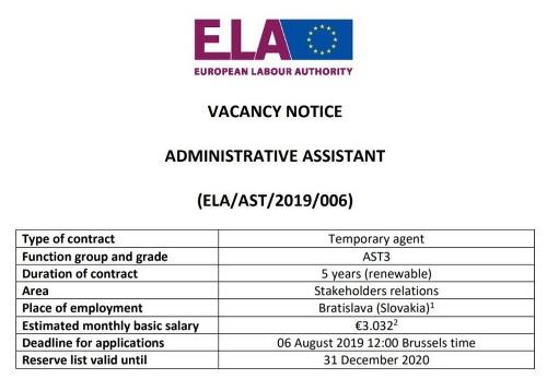 Európsky úrad hľadá prvých
