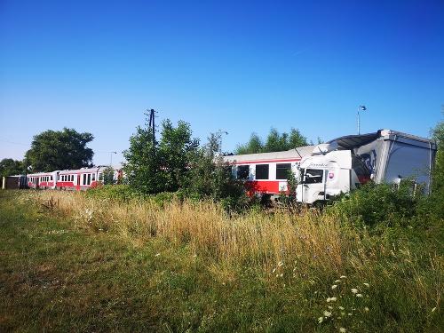 Zrážka vlaku a kamiónu