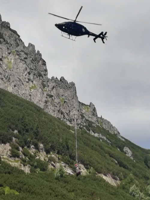 Horská záchranná službu prišla