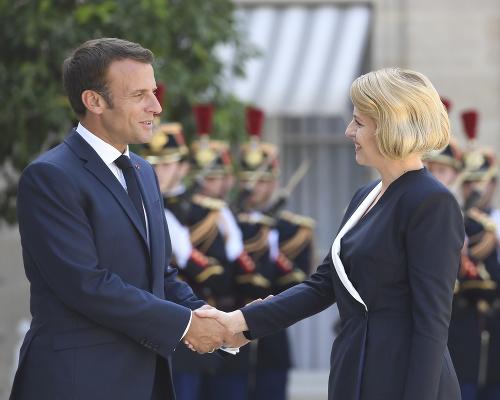 FOTO Macron prijal Čaputovú