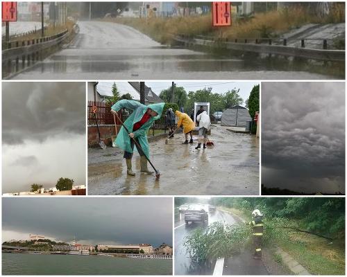 Slovensko zasiahli búrky.