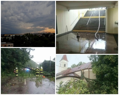 Slovensko zasiahli ďalšie búrky.