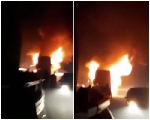 Požiar autobusu, v ktorom