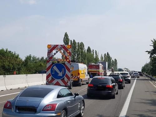 Hromadná nehoda na D1.