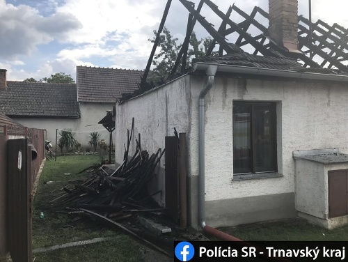 Dom v Maduniciach zhorel