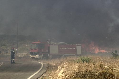 Požiar na ostrove Elafonisos