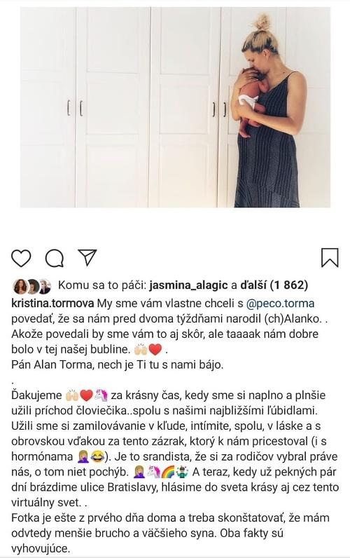 Kristína Tormová aj jej