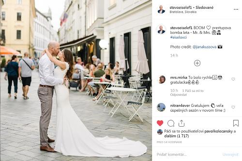 Prvá svadobná foto manželov