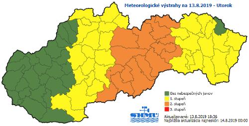 Východ Slovenska zasiahla silná