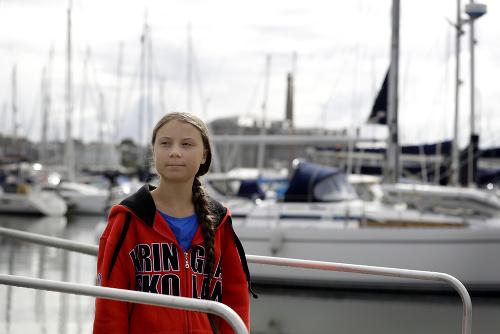 Aktivistka Thunbergová vyplávala na