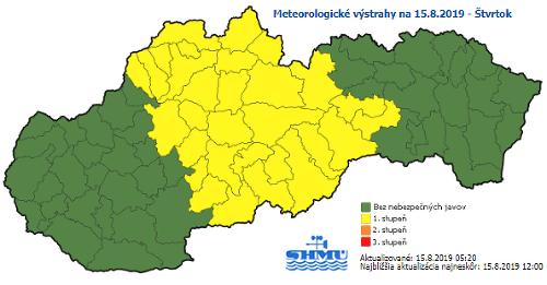 Výstrahy meteorológov: Na strednom