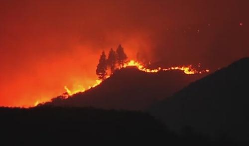 Požiar na Kanárskych ostrovoch