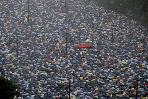 FOTO Demonštrácie v Hongkongu: